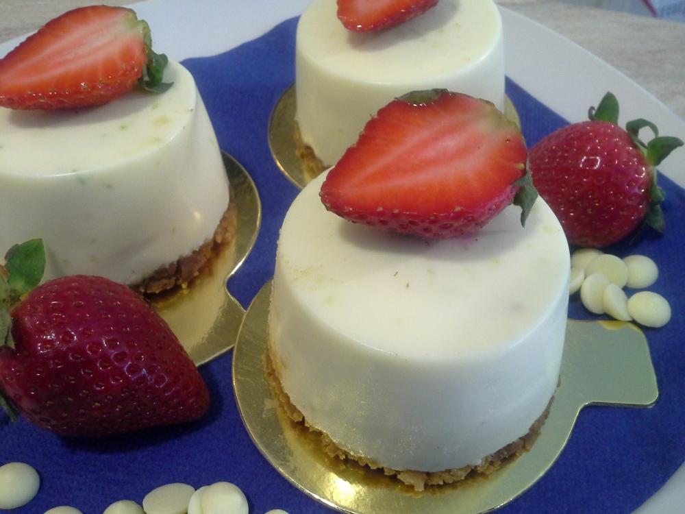 chesse cake de lima y choc blan