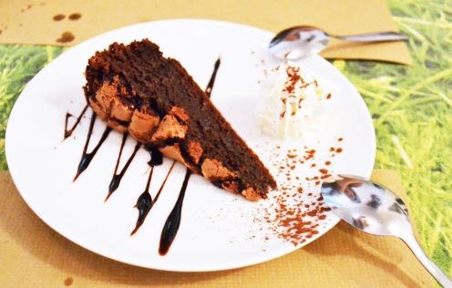 Chocolate brownie cake before...